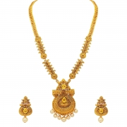 Atasi International Gold Plated Jewellery Set for Women (Golden)(AG1842)
