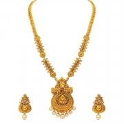 Atasi International Gold Plated Jewellery Set for Women (Golden)(AG1842)