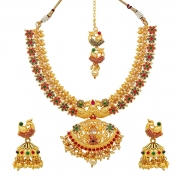 Atasi International Gold Plated Jewellery Sets for Women (Golden) (G1898)