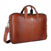 Hammonds Flycatcher Original Bombay Brown Leather 15.6 inch Laptop Messenger Bag|Padded Laptop Compartment|Office Bag (L=15.6,B=3.75,H=10.75 inch) LB106TN