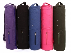 KD Yoga Bag MAT Cover Full Zip Carry Bag with Multiple Pockets Storage Area Adjustable Strap