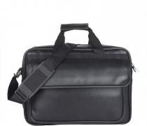 Roshiaaz Black Leather Bag/Laptop Bag/Cross Over Shoulder Messenger Bag/Office Bag